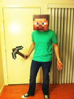 Minecraft character Halloween costume!