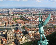 Lyon, France is a beautiful city. Cultural fest of restaurants, Renaissance buildings, and museums. The Rhone river and Saone River flow through Lyon creating a Peninsula.