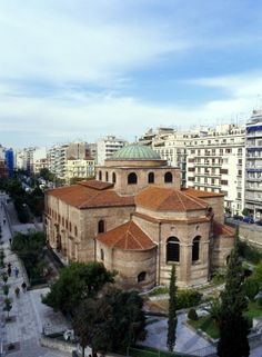 Early Christian and ByzantineThessaloniki, Agia Sophia church Church Icon, Visit Greece, Travel Pictures, Travel Pics, Greece Islands, Site Visit, Early Christian, World Cities, Island Beach