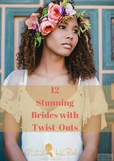 Natural Hair Brides with Flower Accessory