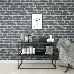 2,81€//1qm Tapete Schiefersteine Naturstein grau schwarz 9431-18