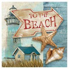 To the Beach Wall Art.