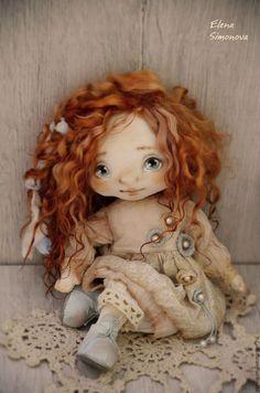 Купить Бонни - бежевый, коллекционная кукла, интерьерная кукла, авторская ручная работа, авторская игрушка ☆
