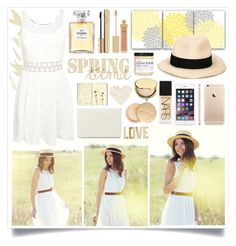 """Spring Time"" by angelstylee ❤ liked on Polyvore featuring Nine West, Pilot, Eugenia Kim, PBteen, Jane Iredale, NARS Cosmetics, Chanel, Dolce&Gabbana, AERIN and Estée Lauder"