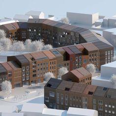 117 Housing Units, Mouvaux, France by LAN Architecture.