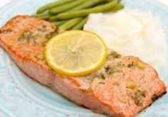 Salmon with Dijon and lemon