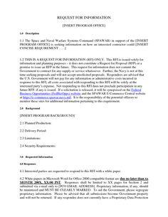 Bilderesultat for rfi template pdf it