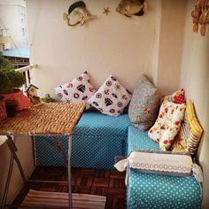 Small balcony ideas ( bu da bizim yeni bitirdiğimiz sevimli balkonumuz )