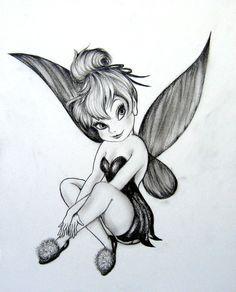 Sassy Fairy Tattoos for Women   Voici un dessin de la Fée Clochette trouvé sur le net et que je ...