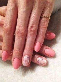A variety of pink & French manicure and lace nail