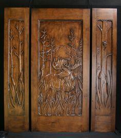 Doors and Windows -- Hand Carved Wood Door