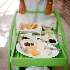 Green cheese cart | Calder Clark + A Bryan Photo