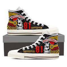 Hells angels ladies high top sneakers - Women's style: Patterns of sustainability Men's High Top Sneakers, Sneakers For Sale, Order Shoes Online, Hells Angels, Mens High Tops, Shoe Size Chart, Suede Pumps, Custom Shoes, Shoe Boots