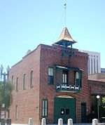 "The Old Plaza Firehouse is the oldest firehouse in Los Angeles. Built in 1884, it operated as a firehouse until 1897. The building was thereafter used as a saloon, cigar store, poolroom, ""seedy hotel"", Chinese market, ""flop house"", and drugstore.[10] The building was restored in the 1950s and opened as a firefighting museum in 1960."