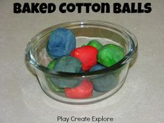 Baked Cotton Balls