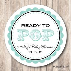 Ready to pop baby shower tags baby shower favor tags for Ready to pop labels template free