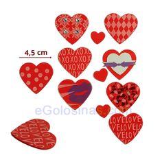 8 PEGATINAS GOMA EVA CORAZON son adhesivos con grosor y forma de corazón  surtidos. Miden 8e27bf0f394b9