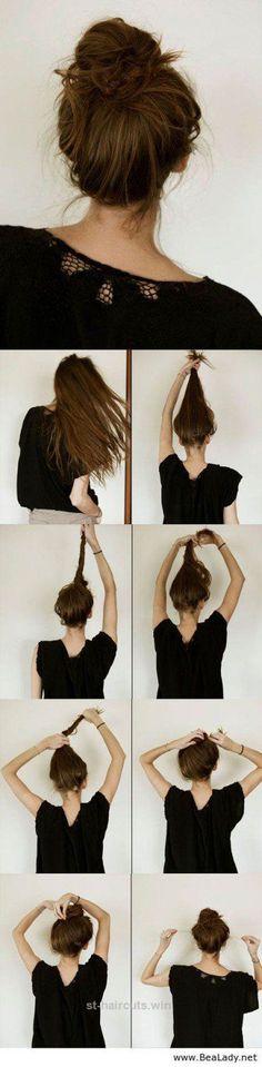 Cool Casual Messy Hair Bun   Stunning & Easy DIY Hairstyles for Long Hair by Makeup Tutorials at makeuptutorials.c… The post Casual Messy Hair Bun   Stunning & Easy DIY ..