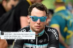 Tour de France 2015 Stage Eighteen-Mark Cavendish tired of Tour de France 'chicken pox'.