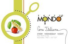 #CenaItaliana every #Wednesday #night at #CaffeMondo #restaurant  #phoeniciabeirut, #Phoenicia Hotel Beirut See More at:http://goo.gl/caeUYI