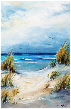 This is an original abstract painting by acrylic artist Ora Birenbaum. It's an overlay of metallic pewter and gold along with hints of gold and silver glitter for a touch of shine. Watercolor Paintings, Original Paintings, Original Art, Seascape Paintings, Landscape Paintings, Beach Paintings, Oil Paintings, Art Carte, Encaustic Art