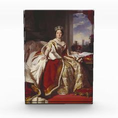 Franz Xaver Winterhalter- Queen Victoria Postcard | Zazzle.com World Famous Paintings, Famous Artists, Victoria And Albert, Queen Victoria, Franz Xaver Winterhalter, Renaissance Paintings, Custom Posters, Custom Art, Find Art