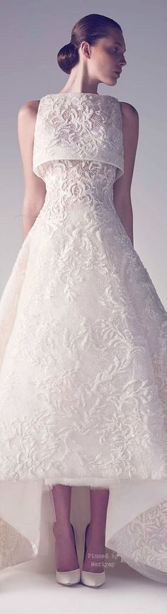 Wishing I could get married again in this dress. - Ashi Haute Couture Spring Summer 2015. jαɢlαdy