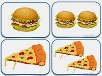 Pizza a hamburger Plurals Worksheets, Singular And Plural, Working With Children, Card Games, Game Cards, Speech Therapy, Kindergarten, Breakfast, Kids Work