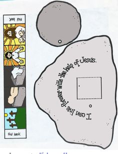 Cross and the empty tomb- Tomb scene printable, Easter (Resurrection) Sunday craft. Sunday School Kids, Sunday School Activities, Sunday School Lessons, Easter Activities, Bible Story Crafts, Bible Stories, Jesus Crafts, Fhe Lessons, Christian Crafts