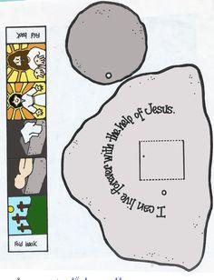 Tomb scene printable, Easter (Resurrection) Sunday craft.