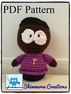PDF Pattern for Crochet Amigurumi South Park Inspired Token Doll
