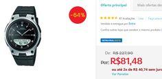 Relógio Masculino Anadigi Casio AW-80-1AVDF << R$ 8148 em 2 vezes >>