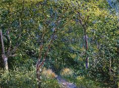 """dappledwithshadow: """" Alfred Sisley Sous-Bois Dimensions: 21.38 X 28.38 in (54.29 X 72.07 cm) Medium: Oil on canvas Creation Date: 1886 I think if you look at a lot of Sisley's work from around..."""