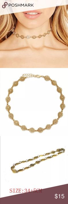 New✨Antique Gold Flower Choker ✨✨ ✨Fashion Jewelry ✨Alloy  Brand New✨ PRICE IS FIRM- already listed at lowest price  If you want to save please look into bundling  In Stock No Trades Will ship within 24 hours Monday-Friday Please -NO- Offers on items priced $10 and under AND ON SALE ITEMS‼️  Serious Inquiries Only❣️  Bundle one or more items from my boutique to only pay 1 shipping fee✨ Jewelry Necklaces