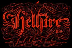 Hellfire - Limited edition print by Seb Lester Types Of Lettering, Lettering Styles, Lettering Design, Hand Lettering, Typography Love, Typography Letters, Sign Letters, Seb Lester, Filigree Tattoo