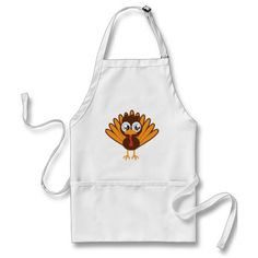 Cute Turkey Aprons #zazzle #thanksgiving