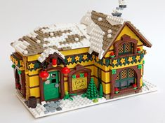 Lego Christmas Village, Lego Winter Village, Lego Gingerbread House, Casa Lego, Lego Advent, Lego Bedroom, Lego Modular, Lego Worlds, Lego Architecture