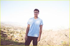 Peyton Meyer takes a load off after a hike in this new shot from the recent issue of NKD mag. Description from justjaredjr.com. I searched for this on bing.com/images