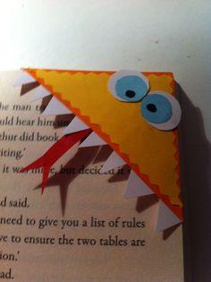 Diy back to school : DIY Monster Bookmarks