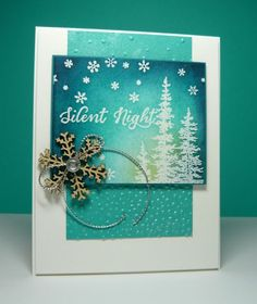 Perry Papercrafts: Christmas Cards in Blue