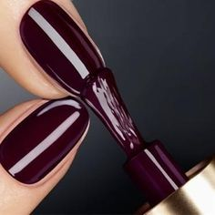 Plum Chocolate....love this color! great for fall - Click image to find more nail art posts