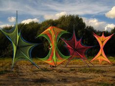 LSDreams team psydeco psychedelic festival decor #strings fluoro