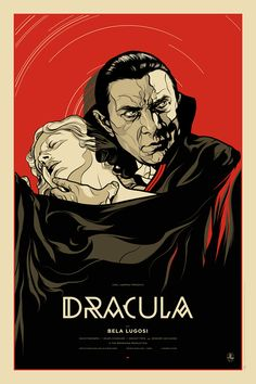 Dracula | The Alamo Drafthouse    Limited edition screenprinted poster for the classic 1931 horror film Dracula, starring Bela Lugosi.