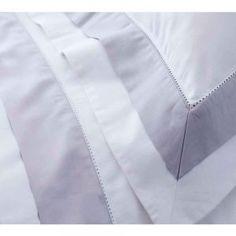 Milano Grey Trim Bed Linen - French Bedroom Linen