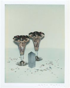 ANDY WARHOL (1928-1987) Committee 2000 Champagne Glasses two unique polaroid prints (detail left) each: 4¼ x 3 3/8 in. (10.8 x 8.6 cm.) Executed in 1982.