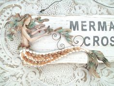 Vintage Inspired Mermaid Crossing Sign Metal by searchnrescue2