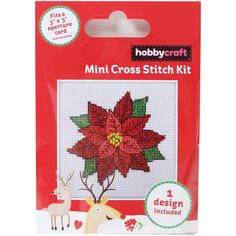 Poinsettia Mini Cross Stitch Kit | Hobbycraft