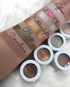 « Colourpop shadows in Glow, I heart this, Kathleenlights,Blaze,Cornelious ✨@kathleenlights @colourpopcosmetics »