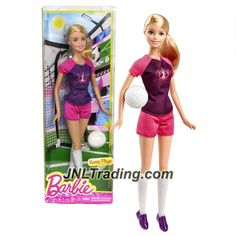 Barbie Mattel Year 2014 Career Series 12 Inch Doll as Soccer Player with Soccer Ball New Barbie Dolls, Barbie Toys, Happy Birthday Paul, Barbie Playsets, Kid Experiments, Most Popular Sports, Barbie Fashionista, Barbie Accessories, Barbie Collector