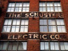 Schuster Electric Co. ghost sign, downtown Cincinnati